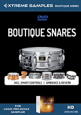 Xtreme Samples Boutique Snares | Apple Logic Pro X EXS24 Sound Library