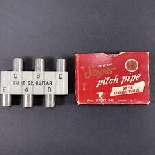 Vintage Wm. Kratt Super Pitch Pipe Guitar Tuner Sn-10 Sp. Guitar