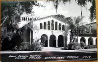 1950 Winter Park, FL Realphoto Postcard: Rollins College - Annie Russell Theatre