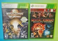 MK Komplete Edition + Mortal Kombat Vs DC Universe - XBOX 360 2 GAME Lot Tested