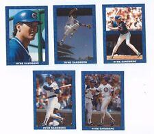 RYNE SANDBERG Broder 1990 FIVE CARD SET Chicago Cubs HOF