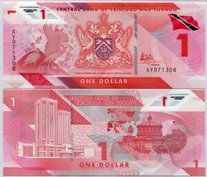 Trinidad & Tobago 1 Dollar 2020/2021 Polymer P NEW UNC LOT 100 Pcs 1 Bundle NR