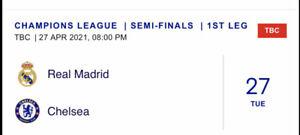 PRE-ORDER.CHAMPIONS LEAGUE.REAL MADRID v CHELSEA PROGRAMME+TEAMSHEET X 2.MINT.