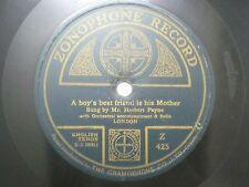 "MR HERBERT PAYNE Z 425 INDIA INDIAN RARE 78 RPM RECORD 10"" GREEN VG"