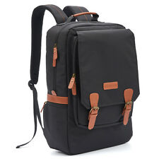 Evecase Water Resistant City Laptop Backpack fits up to 17-inch Laptop - Black