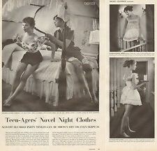 1955 fashion article Teen Agers' Novel Night Clothes Daisy Mae  Cute girl 032617