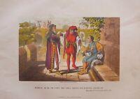 C1870 Shakespeare Stampa King Henry VI Seconda Parte Act II Sc II Warwick Saluto
