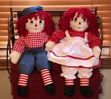 """Raggedy Ann & Andy ~ 25"""" Tall ~ Professionally Made ~ One Of A Kind!"""