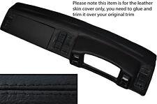 Negro Stitch Dash Dashboard Leather Skin Tapa se ajusta Vw Scirocco Mk2 1981-1992