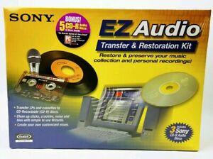 SONY MAGIX EZ Audio Transfer & Restoration Kit w/ (8) Blank CD-R Discs, Sealed