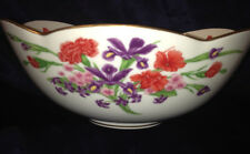 ROYAL CORNWALL THE FLOWERS OF MOUNT VERNON DISPLAY ONLY BOWL PURPLE RED FLOWERS