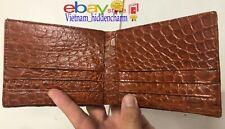 Genuine Crocodile Skin Wallet - Men's Billfold - Double Sides Crocodile Skin