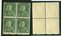 MNH Canada Misperforated 2 Cent KGV Arch Block of 4 #164var (Lot #9593)