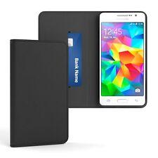 Tasche für Samsung Galaxy Grand Prime Cover Handy Schutz Hülle Case Etui Schwarz