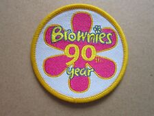 Brownies 90th Year Girl Guides Cloth Patch Badge (L4K)