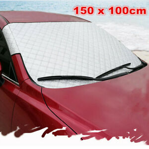 Auto Windshield Snow Sun Cover Tarp Ice Scraper Frost Removal Truck Car Van SUV