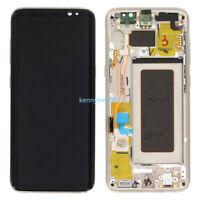 Complet Écran LCD Vitre Tactile Assemblé pour Samsung Galaxy S8 G950F gold+cover
