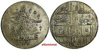 TURKEY Abdul Hamid I (1774-1789) Silver  AH1187//4  (1778)  Kurush  XF KM#396