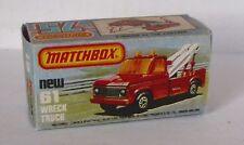 Repro Box Matchbox Superfast Nr.61 Wreck Truck