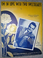 1945 I'M IN LOVE WITH TWO SWEETHEARTS Vintage Sheet Music PHIL BRITO  Box, Cox