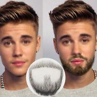 Simulation de mot moustache homme fausse barbe de maquillage 100% de cheveux