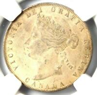 1872-H Canada Victoria 50 Cent (50C, Half Dollar Coin) - Certified NGC AU Detail