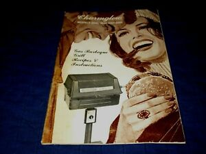 CHARMGLOW MODELS 2500, 3000 & 3200 GAS BARBEQUE GRILL-1979 INSTRUCTION BOOKLET