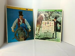 Doctor Dolittle Frame Tray Puzzles Vintage 1967 Whitman 4568 Lot of 2 Eye Chart
