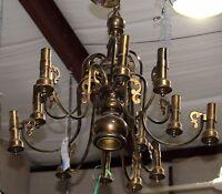 Vintage Thirteen Arm Brass Chandelier