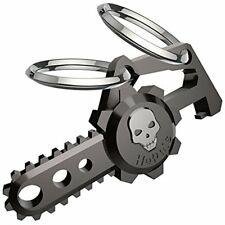 Chainsaw Key Chains Skull Car Dual Rings Men,Women,Bottle Opener Easy to use