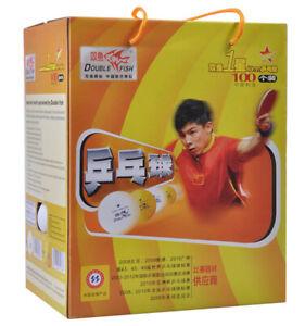 Double Fish Table Tennis Balls, 1star, 100 balls in box, 40mm, Orange, New