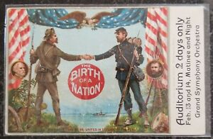 1917 Mt Pleasant IA Postcard Cover DW Griffith Birth of a Nation Movie Premiere