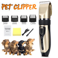 Electric Dog Clippers Comb Set Animal Hair Blade Cat Pet Grooming USB CORDLESS