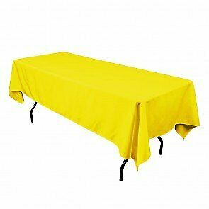 Polyester Tablecloth for Picnic, Party, Wedding, Special Events, Family Dinner