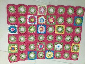 Small Hand Made Cotton Crochet Baby Pram Blanket/cover