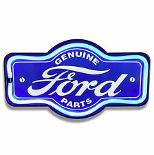 "Ford LED Neon Lighted Sign, 17"" Marquee Shape For Home, Garage, Bar, or Man Cave"
