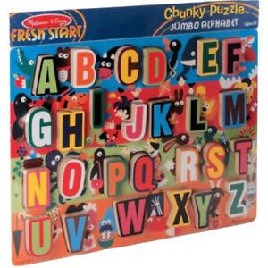 ALPHABET 26 Piece JUMBO CHUNKY ABC Tray ~ Kid's Puzzle ~ Melissa and & Doug ~ BN