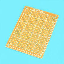PLAQUE D'ESSAI CIRCUIT IMPRIME BAKELITE SIMPLE FACE 70x50mm 432 PASTILLES CUIVRE