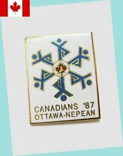 1987 Ottawa Canadian Figure Skating Championships Lapel Pin Ex - Scarce