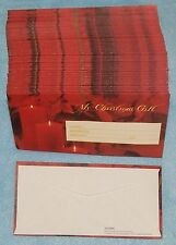 Christmas Offering Envelopes with Poinsettia & Candles - 100 count - New