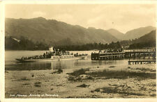 PATTERDALE(Cumberland) : Steamer arriving at Patterdale RP