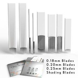 Microblading Blades Shading Needles Eyebrow Tattoo Curved Manual  CRYSTALUM®