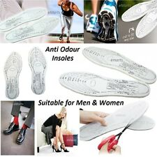 ANTI ODOUR INSOLE 2 PAIRS SHOES INNER SOLES CUT TO SIZE EXTRA SOFT 4 INSOLES