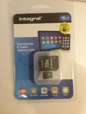 16GB INTEGRAL SMARTPHONE & TABLET MICRO SDHC MEMORY CARD CLASS 10 NEW & SEALED