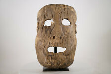 "Primitive Hand-Carved Nigerian Mask 20"" - African Art"