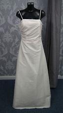 Ex Showroom Goya Cream Taffeta A line Wedding Dress size 14