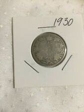 Filler 1930 Canada 25 cent, Silver Quarter.