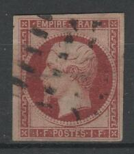"FRANCE STAMP TIMBRE 18 "" NAPOLEON III 1F CARMIN 1853 "" OBLITERE A VOIR  N907"