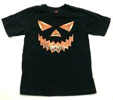 Spooky Shirt Youth Size Medium 8 Kids Black Orange Short Sleeve Graphic Tee Boys