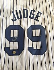 AUTOGRAPHED AARON JUDGE NEW YORK YANKEES PINSTRIPED JERSEY WITH COA!